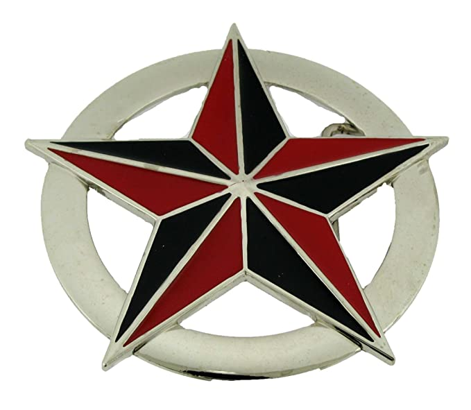 Amazoncom Nautical Star Black And Red Finishing Oval Silver Plate