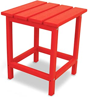 """product image for POLYWOOD ECT18SR Long Island 18"""" Side Table, Sunset Red"""