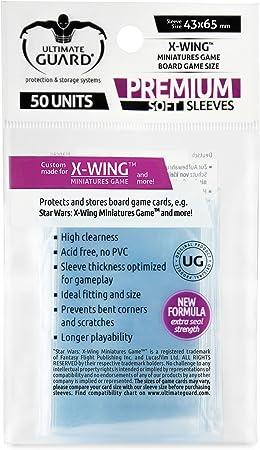 Ultimate Guard Premium Soft Sleeves Fundas de Cartas del Juego de Mesa X-Wing™ Miniatures Game (50): Amazon.es: Juguetes y juegos
