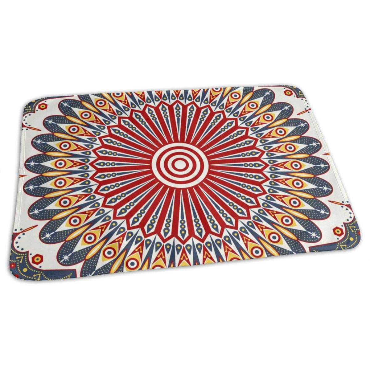 Osvbs Lovely Baby Reusable Waterproof Portable Colorful Ethnic Arabesque Patterned Changing Pad Home Travel 27.5''x19.7'' by Osvbs