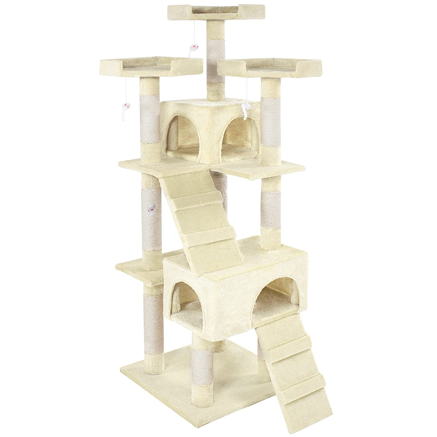Creme TecTake Cat tree Activity Center Barney different colours (Creme)