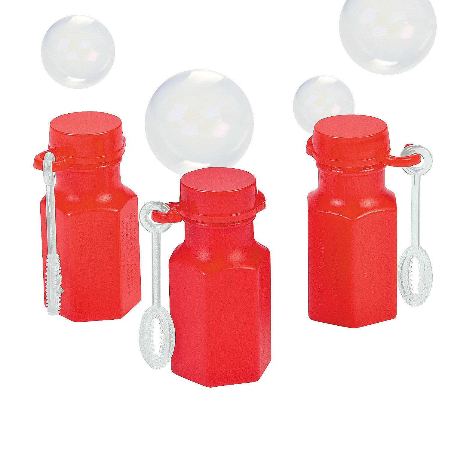 Fun Express Mini Hexagon Red Bubble Bottles 4 Dozen