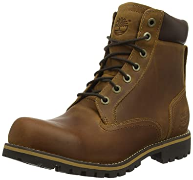 bf95b3331c2af Timberland - 6 In Wp Plain Toe Boot - Bottes - Homme - Marron (Copper