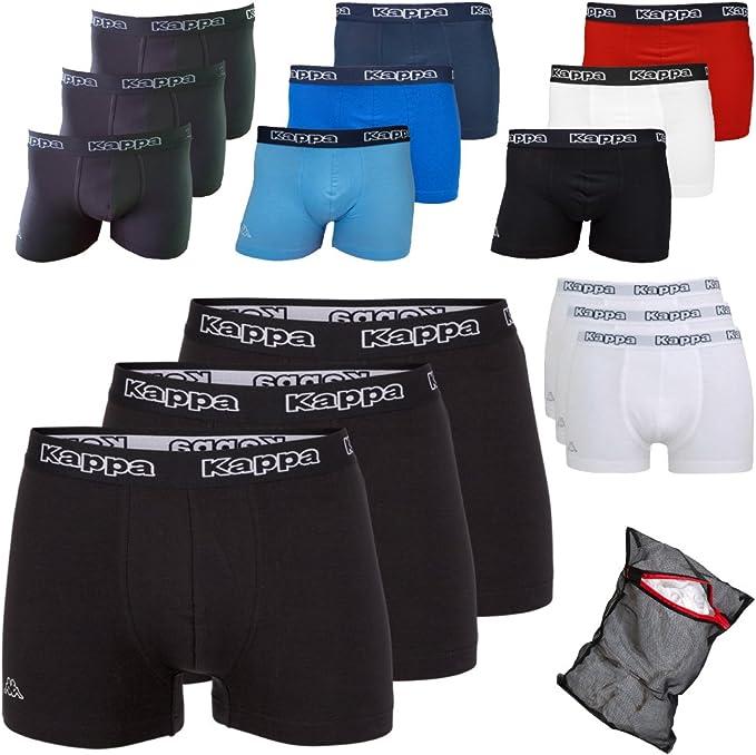 Kappa Ziatec Edition - Calzoncillos tipo bóxer para hombre, S-5XL, con práctica malla de lavado, paquetes de 3, 6 y 9 unidades, ropa interior para hombre