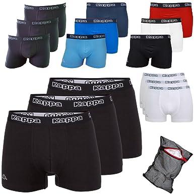 e84e8b1b1c Kappa Men's Boxer Shorts Black Ziatec Edition 3 Pack Underwear Size S – 4XL  – Pants – Underwear for Men: Amazon.co.uk: Clothing