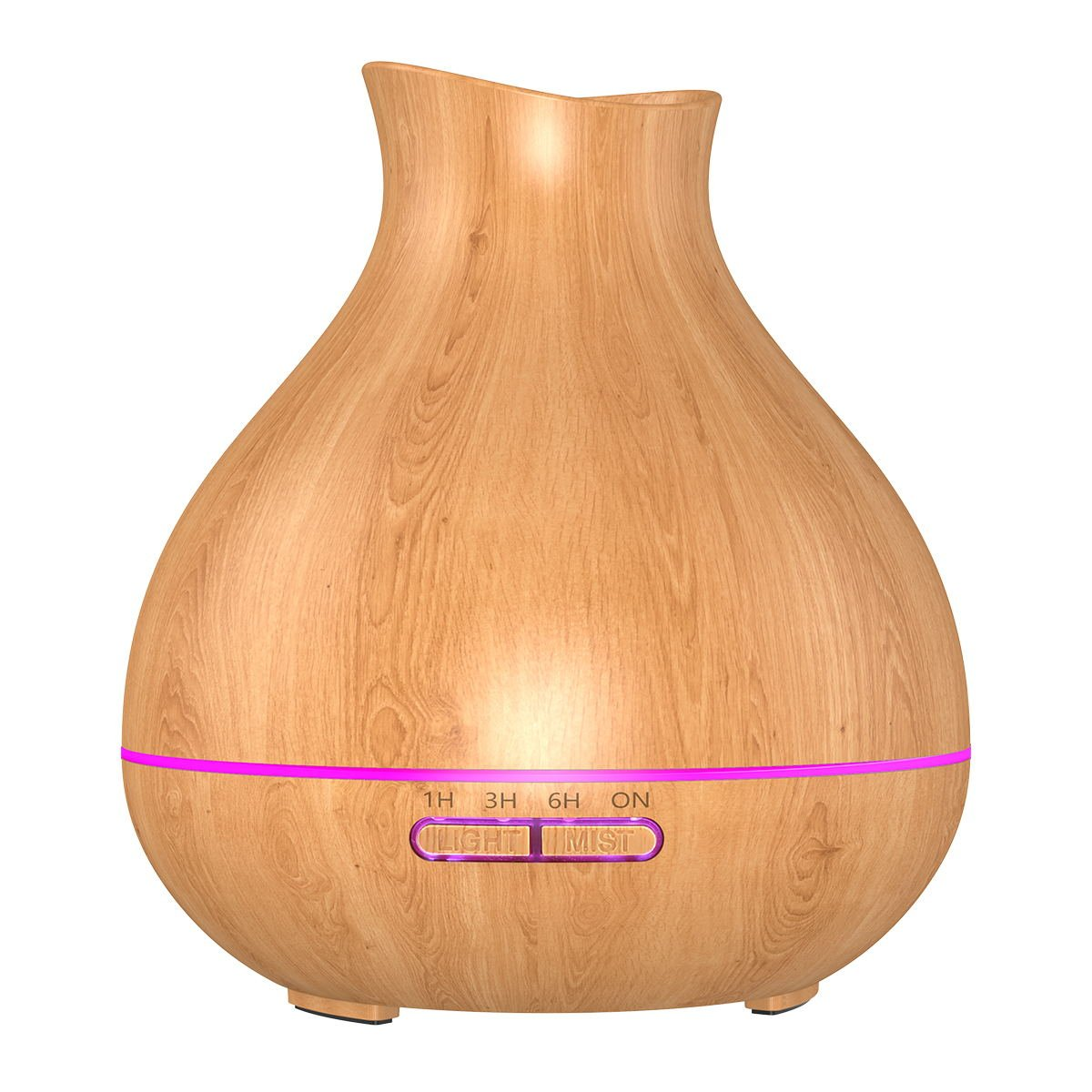 BZseed Essential Oil Diffuse 550ml Aroma Essential Oil Diffuser Light Wood Wood Grain Ultrasonic Cool Mist Humidifier with Waterless Auto Shut-Off and 7 Color LED Lights for Home Office (Brown)