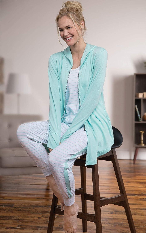 Pajamagram Womens Pjs Sets weich - Cute Women Pajamas, 3-Piece, Green