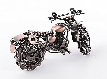 Creative mano soldadura hierro forjado modelo de motocicleta metal modelo de moto Home escritorio decoración adornos: Amazon.es: Hogar