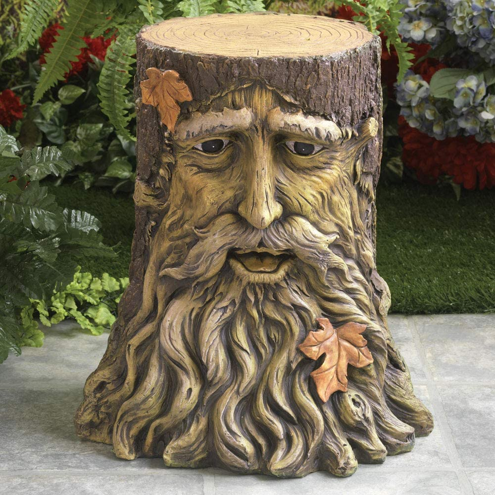 Bits and Pieces - Treebeard Side Table - Unique Patio Decoration Furniture Indoor Outdoor