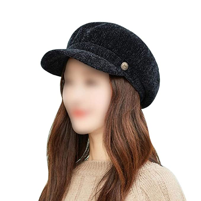 2aeacff6bf8 Jeremy Stone 2019 Hat Women s Hat Autumn and Winter Warm Chenille Fashion  Cap Dome Trend Women s