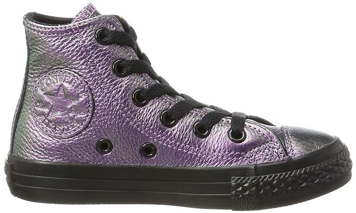 Converse Unisex-Kinder CTAS Hi Violet Black Hohe Sneaker, Mehrfarbig (Violet/Black), 33 EU