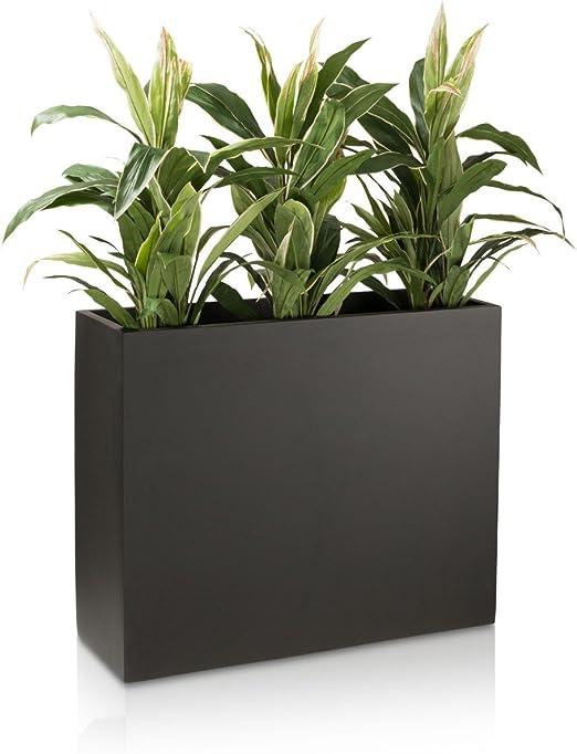 Plantas (panel separador divisor 70 fibra de vidrio, 86 x 30 x 70 cm), color negro mate: Amazon.es: Jardín
