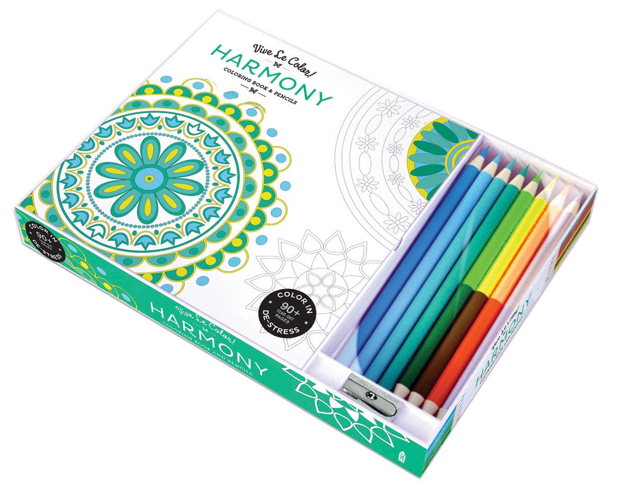 Vive Le Color Harmony Adult Coloring Book And Pencils Therapy Kit Abrams Noterie Original French Edition By Marabout 9781419720536 Books