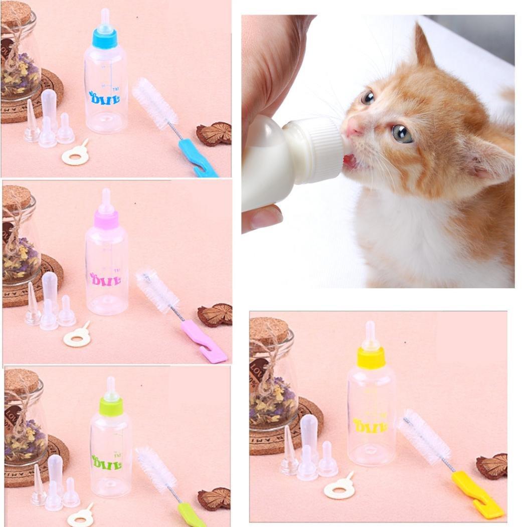 Celendi Baby Dog Small Puppy Cat Milk Nursing Care Kitten Rabbit Feeding Bottle Set
