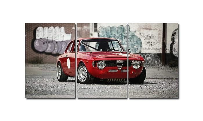 Triptico porsche Alfa Romeo GT 1300 Junior 100x50 cm