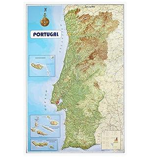 Physische Karte von Island A0 Size 84.1 x 118.9 cm GA laminiertes Papier