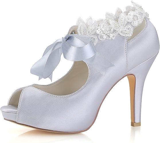 Scarpe Da Sposa Aperte.Emily Bridal Scarpe Da Sposa Argento Scarpe Da Sposa Con Tacco