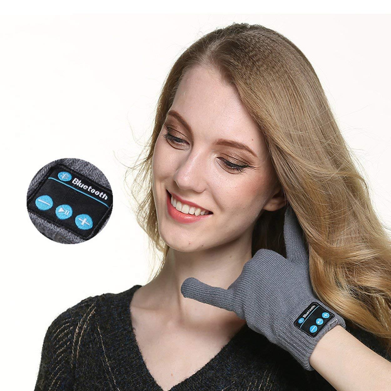 Lorenlli Guantes con Pantalla táctil Bluetooth Guantes de Invierno cálidos de Punto