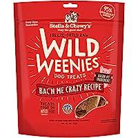 Stella & Chewy's Freeze-Dried Raw Bac'n Me Crazy Recipe Wild Weenies Dog Treats, 3 oz bag, Bacon