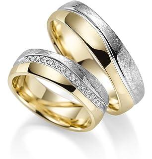 8521654889e7 Par de alianzas Rubin Juwelier en oro 333 amarillo y oro blanco. Incluye  grabado y