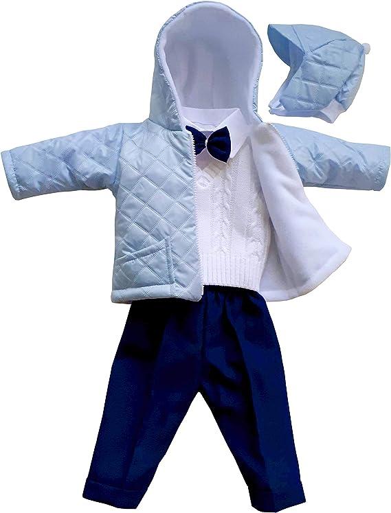 deine-Brautmode Steppjacke Jacke mit Kapuze M/ütze blau