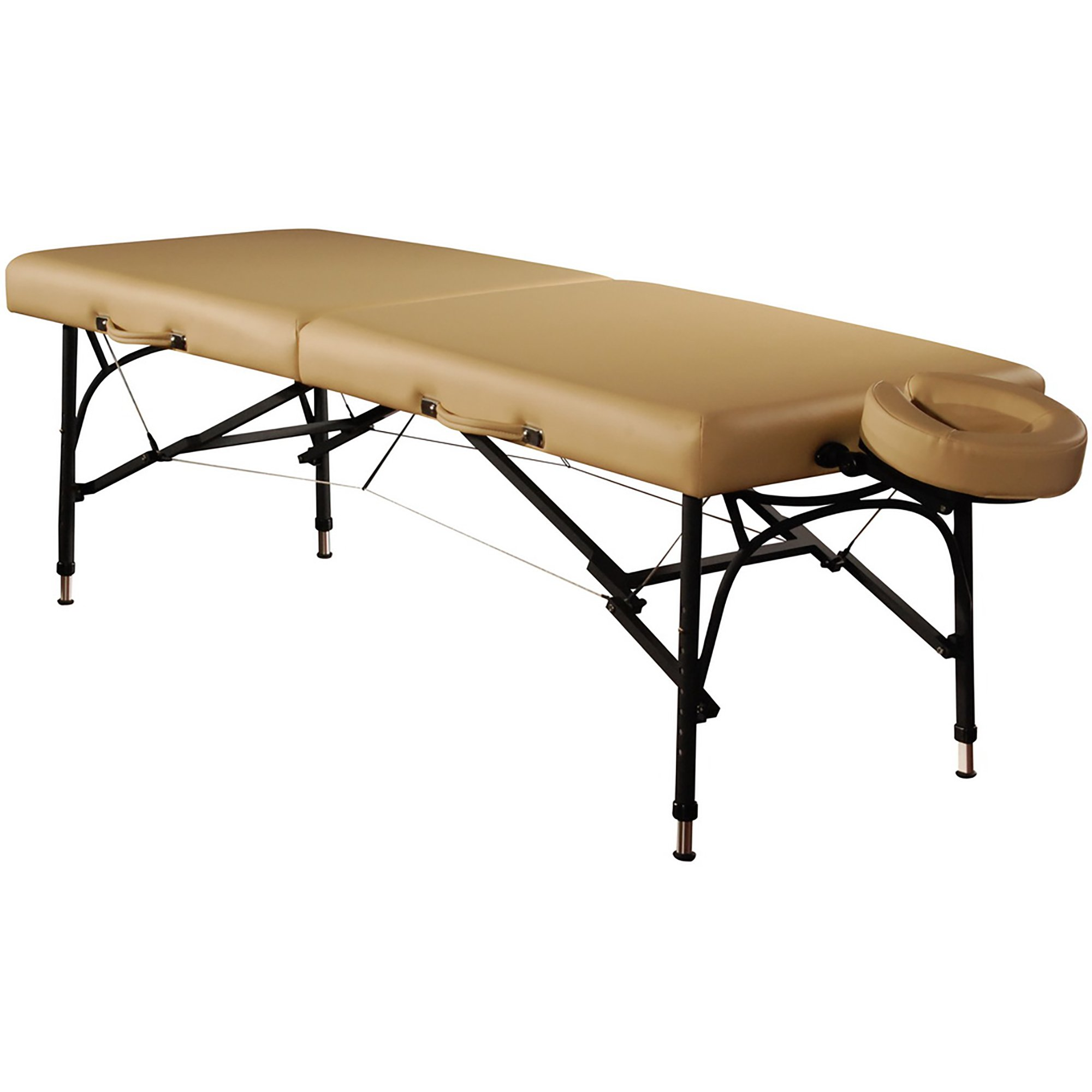 Mt Massage 28'' Violet Light Weight Aluminum Portable Massage Table Package(Beige)