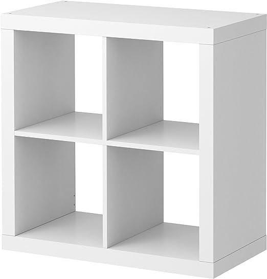 Ikea Estantería Blanca Kallax, librero Ideal para cestas o Cajas ...