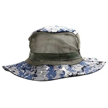 4aa78e5ac0147 Image Unavailable. Image not available for. Color  Wingbind Outdoor Boonie  Sun Hat Bucket Hat with String Military Fishing Safari Sun Hat Camouflage  Mesh