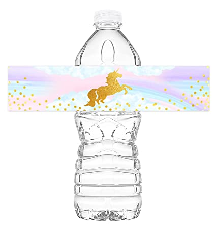 Amazoncom Magical Unicorn Bottle Wraps Unicorn Water Bottle - 8 oz water bottle label template free