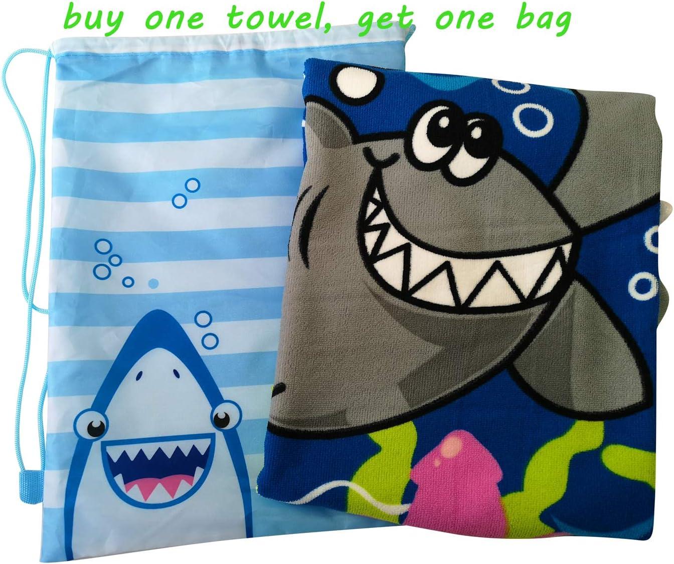 Athaelay Dinosaur Beach Towel with Hood for 3-8 Years Boys Hooded Towel Bath Roble