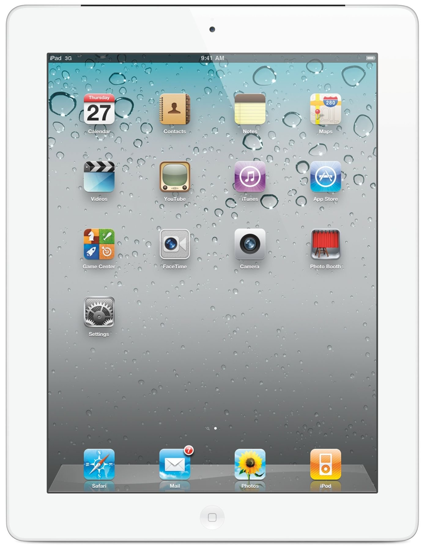 Apple iPad 3rd Generation 9.7'' Tablet - 16GB, White, WiFi + Cellular, Unlocked GSM (Certified Refurbished)