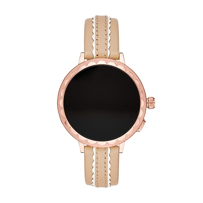 Kate Spade vachetta leather touchscreen smartwatch strap ...