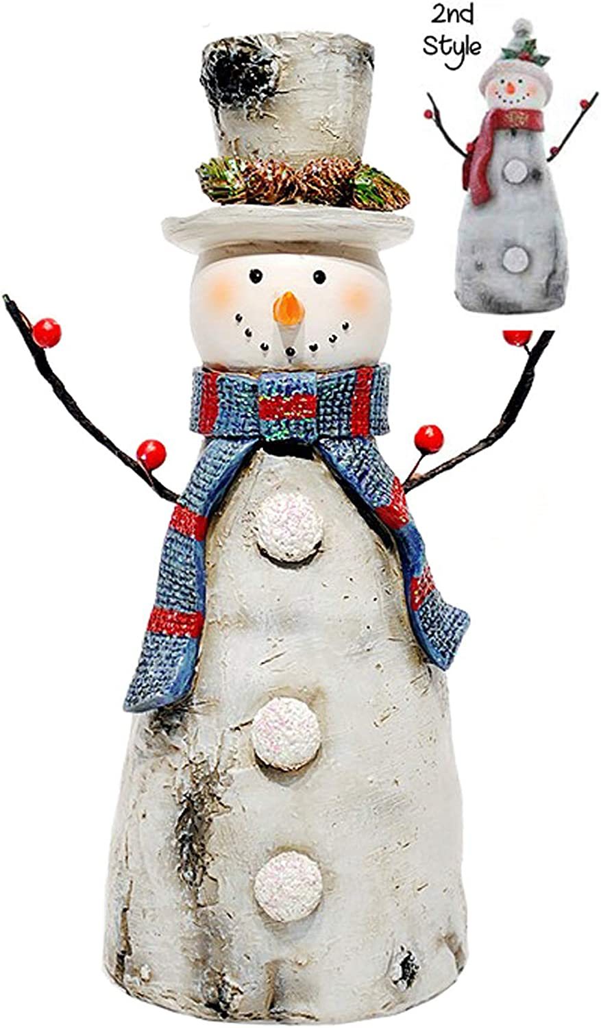 Amazon Com Special T Imports Resin Birch Snowman Figure Set Of 2 9 5 H Christmas Holiday Decor Home Kitchen