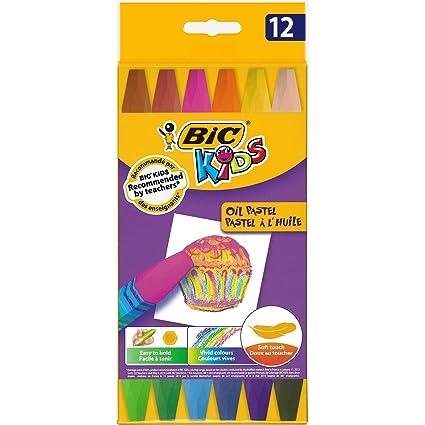 Amazon.com : Estuche 12 ceras pastel al oleo colores ...