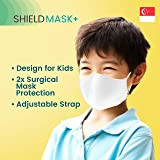 Kidmoro 1pc Face Mask  4 Layers Protection for Kids, Washable, Adjustable Fit