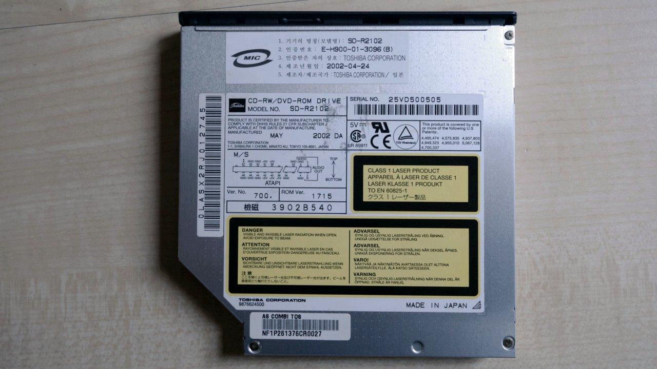 TOSHIBA DVD-ROM SD-R DRIVER