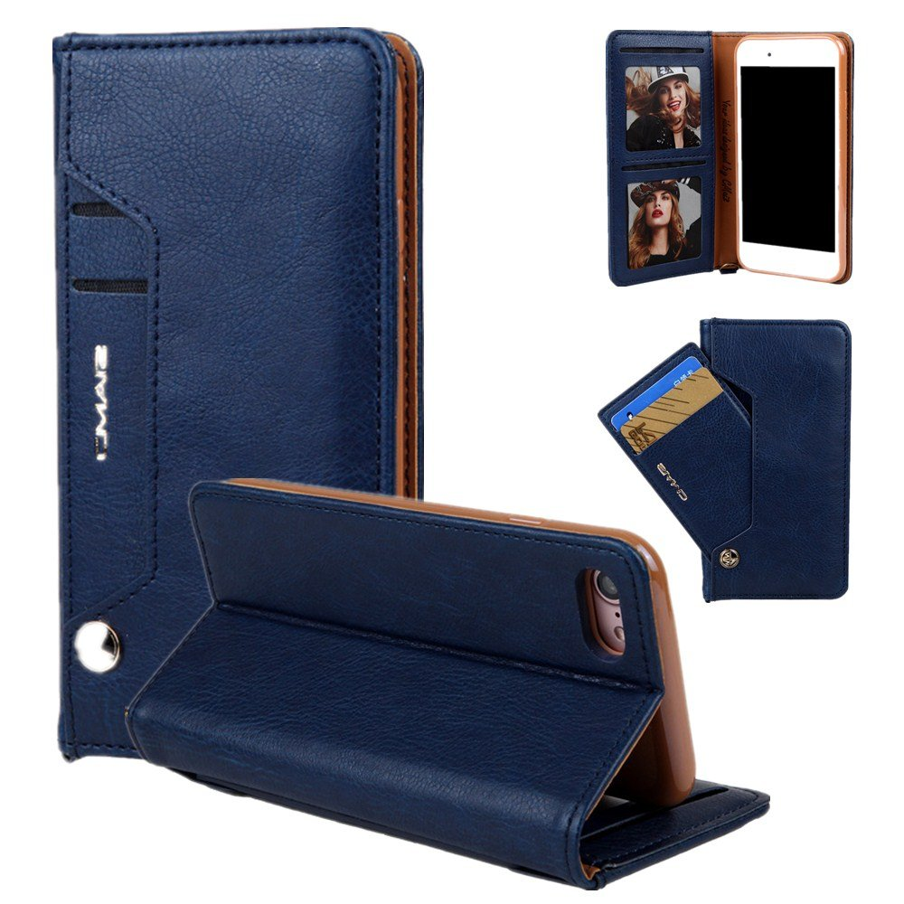 Hulorry iPhone 8 Plus Wallet Case Slim, Wallet Case Heavy Duty Shockproof Card Holder Case Dual Layer Design with Card Slot & Cash Premium PU Leather for iPhone 7 Plus/8 Plus
