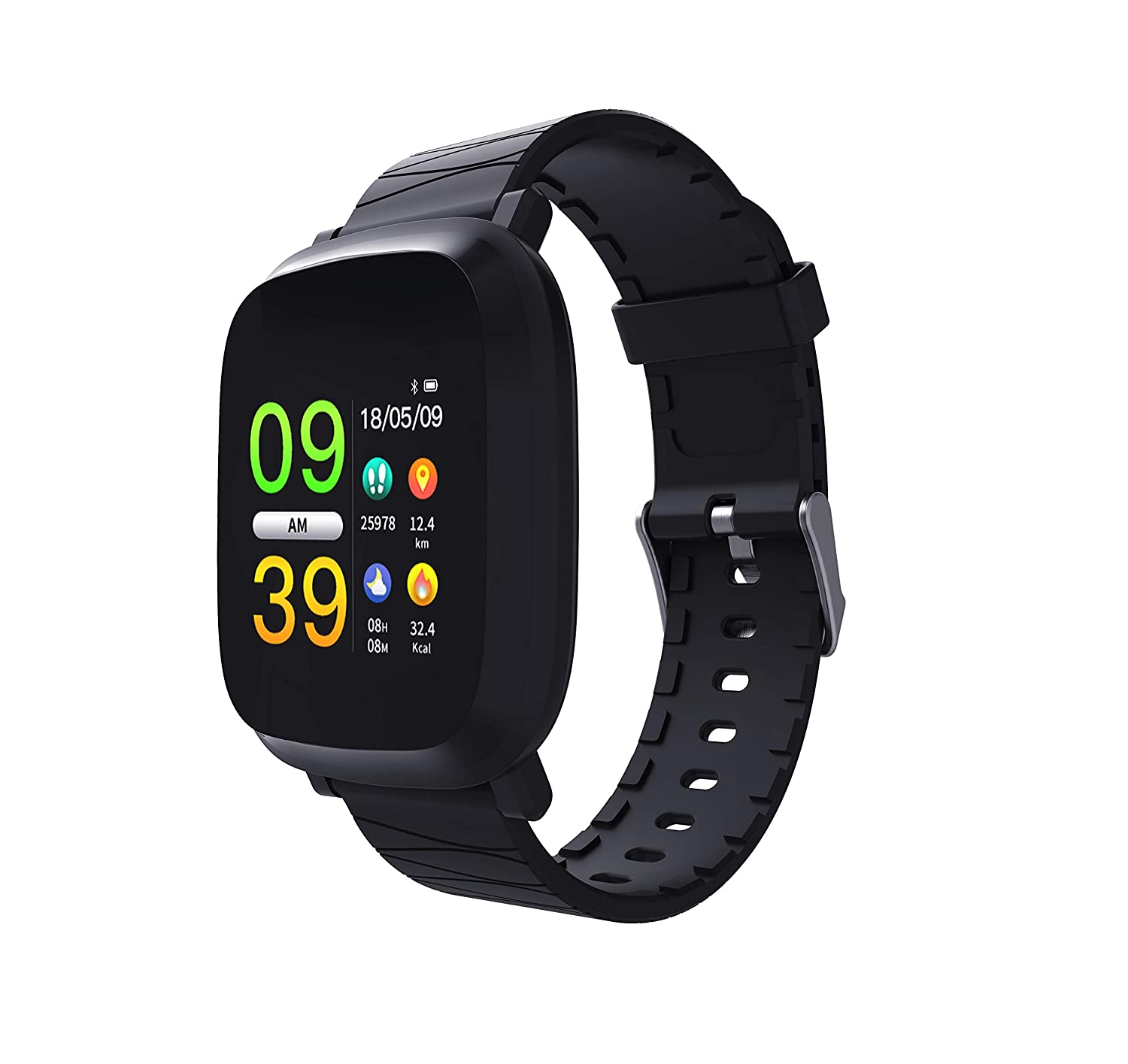 Amazon.com: elegantstunning Smart Watch Blood Pressure Color ...