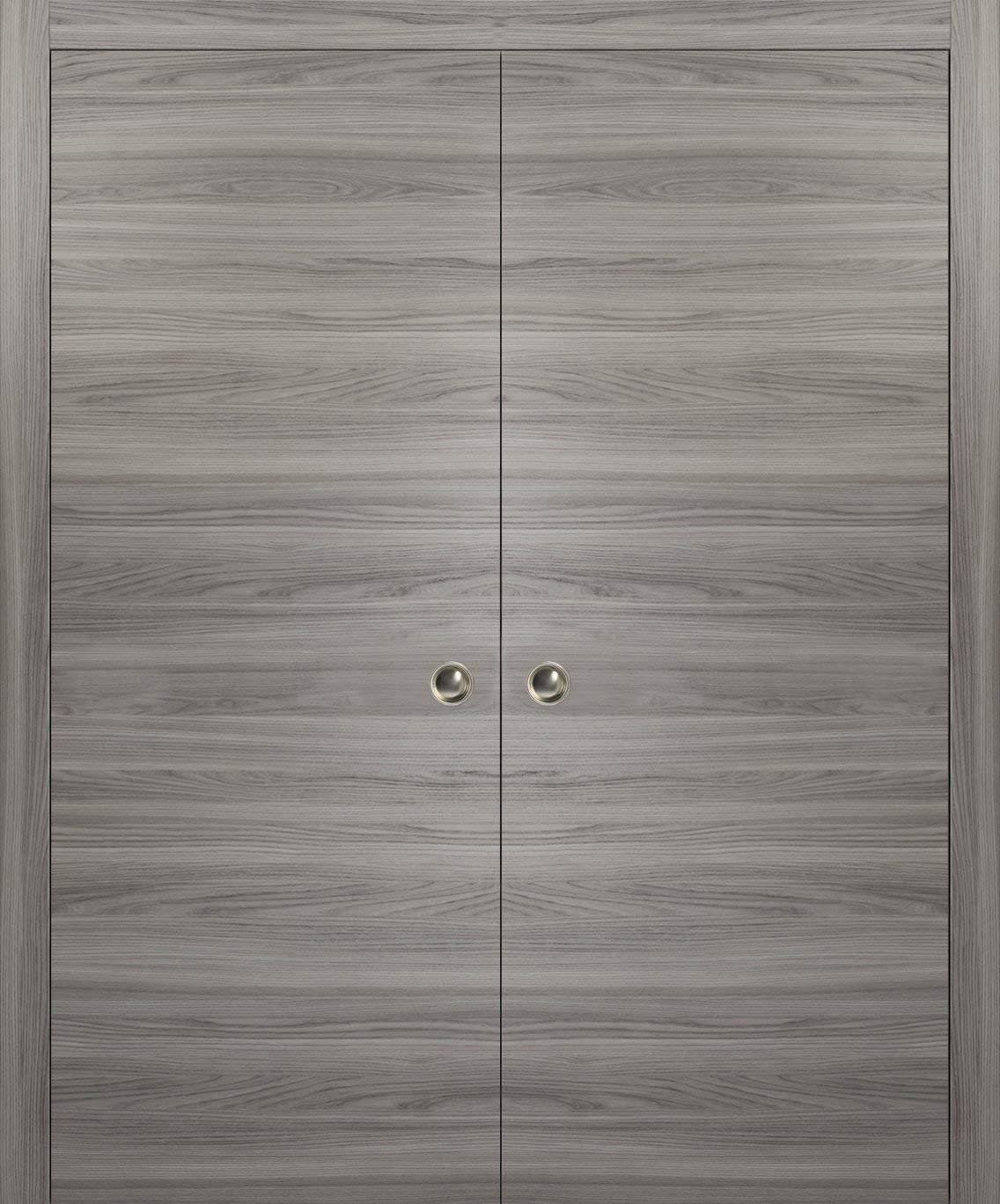 Modern Double Pocket Closet Doors 48 X 80 Planum 0010 Ginger Ash