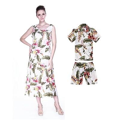 ec42e2c4f Hawaii Hangover Matching Mother Son Hawaiian Luau Outfit Indigo Dress Shirt  In Cream Rafelsia