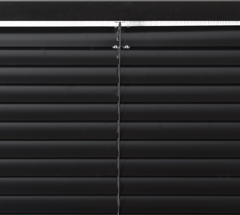 EFIXS Jalousie auf Maß  Aktion    Breite  240,1 bis 250cm x Höhe  140,1 bis 160cm  Montage  Festschrauben an Wand Decke  Farbe  schwarz  Bedienung  Wendestab und Zugschnur  Maßanfertigung  andere Größen im Angebot wäh 925aef
