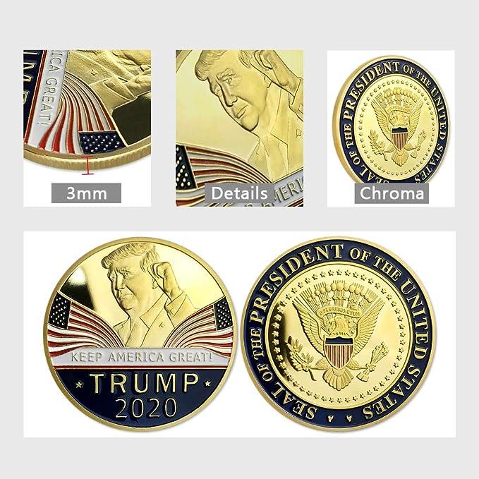 2PCS Donald Trump 2020 Keep America Great Commemorative Challenge Coin H2/&/&