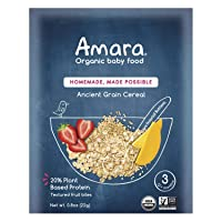 Amara Organic Baby Food | Ancient Grain Cereal | Homemade Made Possible | Mix with...