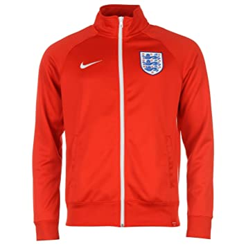 dadcb9355df Nike England Core Jacket Mens Red White Football Soccer Track Top Small