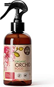 Organic Ready to Spray Orchid Food Mist - Bloom Booster Fertilizer for Orchids in Pots - Plant Nutrients for Healthy Flower & Reblooms (8 oz)