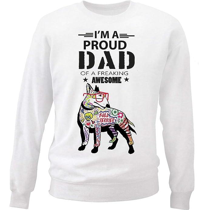 teesquare1st Bull Terrier - Proud Dad c Sudadera: Amazon.es: Ropa y accesorios