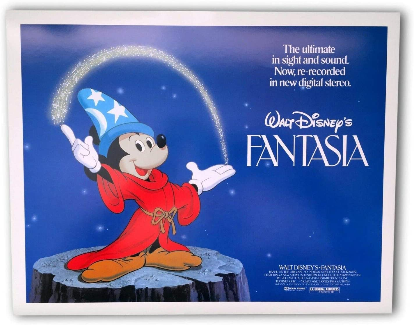 Fantasia Original 11x14 Authentic Lobby Card Poster Photo 1982 Title Disney 1 At Amazon S Entertainment Collectibles Store