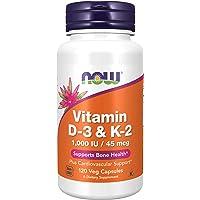 NOW Vitamin D-3 & K-2,120 Veg Capsules