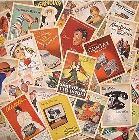 Set de 32 tarjetas postales antiguaseuropeas Monkeybrother de estilo retro: Amazon.es: Oficina y papelería