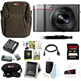 Panasonic Lumix DMC-ZS100 Digital Camera (Silver) Bundle (32GB Premium Kit)
